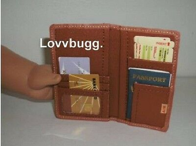 "Travel Wallet for 18"" American Girl Doll Passport Lovvbugg Has Most Accessories!"