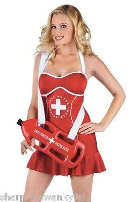 Ladies Sexy Lifeguard with Drinks Dispenser Hen Do  Fancy Dress Costume Outfit