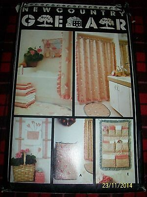 Butterick 6169 Bath Accessories Shower Curtain Organizer Laundry Sewing Pattern