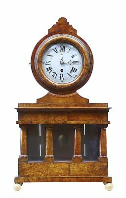 19Th Century Birchroot Mantle Clock By Svensson