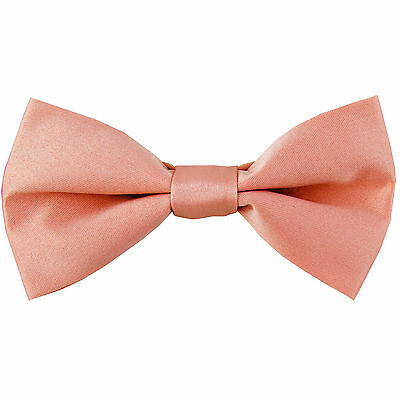 New KID'S BOY'S 100% Polyester Pre-tied Bow tie only mauve pink formal wedding