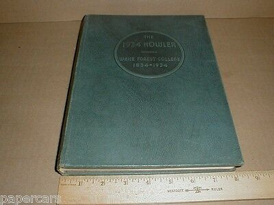 Vintage 1934 Wake Forest College University Yearbook Howler North Carolina NC