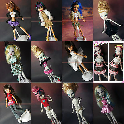 10*Random Diffirence Style Fashion Clothes/Outfit/Dress For Monster High Doll U8