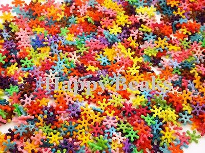 Bird Toy, Small Solid Coloured Snowflake Beads - Happy Beaks