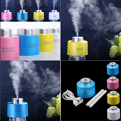 New USB Portable Mini Water Bottle Caps Humidifier Aroma Air Diffuser Mist Maker