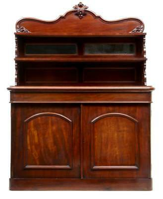 19Th Century French Mahogany Chiffonnier Sideboard