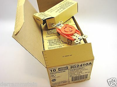 Box 10 Hubbell IG2410 L14-20R ISO GND Locking Receptacle Outlet 20A 125/250V