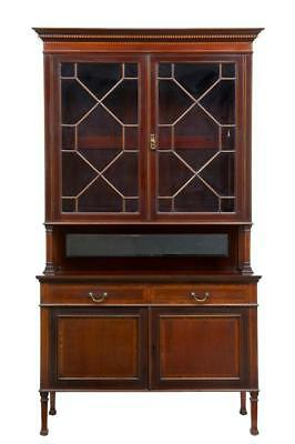 Early 20Th Century Maple & Co Mahogany Bookcase Cabinet