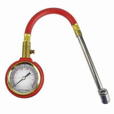 Tyre Pressure Gauge With Flexible Hose And Air Release Valve 5 - 170 PSI AT687