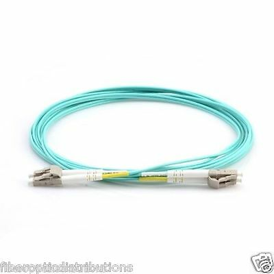 2m LC-LC Duplex 50/125 Multimode 10Gb Fiber Patch Cable Aqua om3