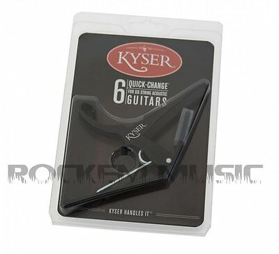 Kyser KG6B Quick Change 6 String Black Acoustic Or Electric Guitar Capo