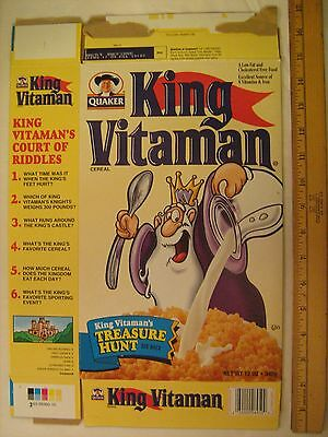 QUAKER Cereal Box KING VITAMAN 2003 Treasure Hunt [G7e3]