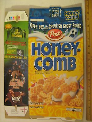 POST Cereal Box 2000 HONEY-COMB Haunted Edition GHOST SOUND Adams Family [G7e4]