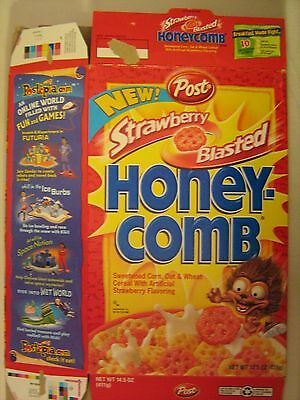 POST Cereal Box 1995 HONEY-COMB Strawberry Blasted [G7e5]