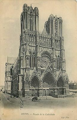 51 Reims Facade Cathedrale - Nd