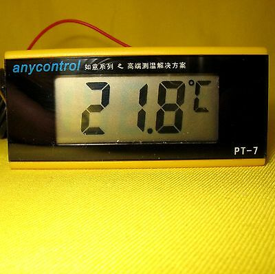 Temperature Meter 12V dc Digital LED Thermometer Detector &2m Probe Sensor Gauge