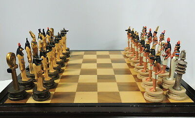 Ancient Egypt - Historically Themed Chess Set #Ceramic Historical Chessmen