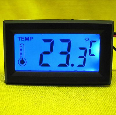 Temperature Meter 5V dc Digital LCD Panel Thermometer Probe Sensor Backlight CPU