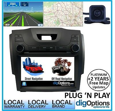 !For Isuzu DMAX GPS Bluetooth Stereo DVD Car Player Navigation Radio Fascia HD