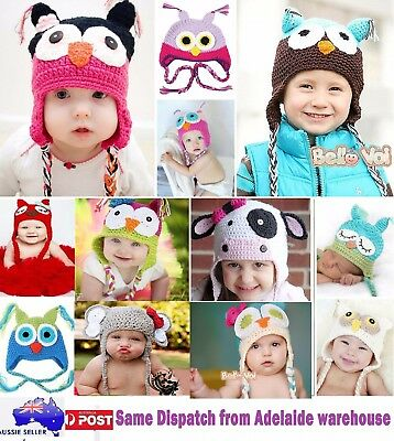 Cotton Owl Baby Infant Toddler Children Boy Girl Hats Child Winter Frozen Beanie