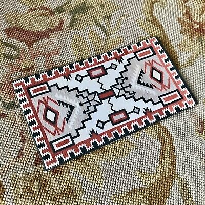 Pat Tyler Dollhouse Miniature Canvas Floorcloth Covering Rug Carpet Red