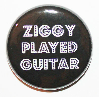"""1"""" (25mm) 'Ziggy Played Guitar' David Bowie Button Badge Pin - High Quality!"""