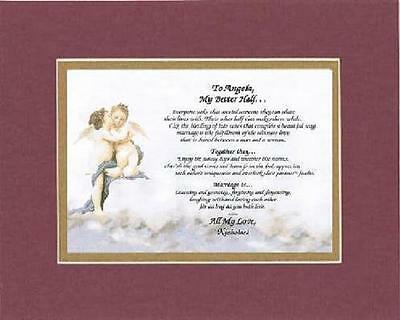 Personalized Touching and Heartfelt Poem for Loving Partners - My Better Half .