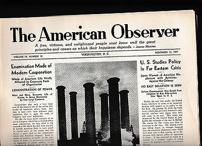 The American Observer Lot of 22 1939 & 1940- Lead Up to World War II
