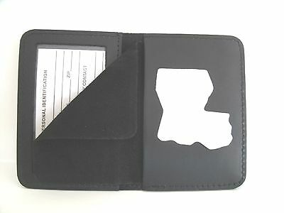 Louisiana State  Police Shield & ID Case Holder Cut Out CT-14 LG Leather