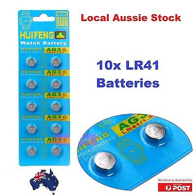 10x Pack LR 41 1.5 Volt Alkaline Button Cell Battery AG3 392 SR41 192 V3GA g