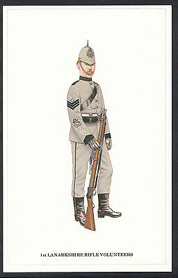 Military Postcard - The Volunteers - Sgt 1st Lanarkshire Rifle Volunteers  DR597