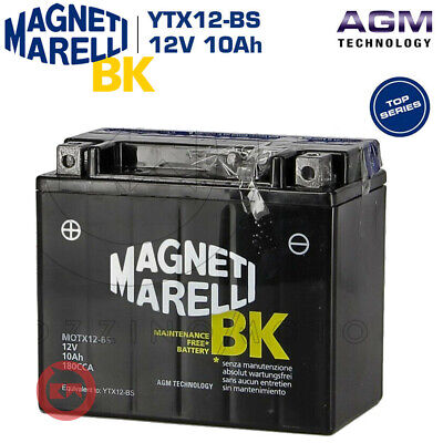 BATTERIA MAGNETI MARELLI YTX12-BS 12V 10Ah KYMCO Xciting i / R 300 2008 2009