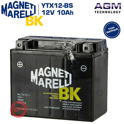BATTERIA MAGNETI MARELLI YTX12-BS 12V 10Ah PIAGGIO BEVERLY RST 300 4T ie 2010