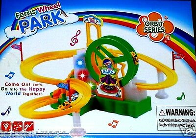 Ferris Wheel Park Track Racer Car toy kids battery operated Racing Car track