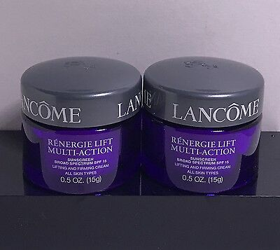2 x Lancome RENERGIE LIFT MULTI-ACTION SPF15 Lifting & Firming Cream 0.5oz /15g