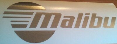 Pair of LARGE Malibu decals in Premium Chrome 24 inch sticker