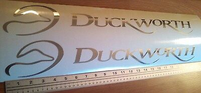 Pair of Duckworth boat Decals Large in Premium Chrome vinyl 22 inch sticker