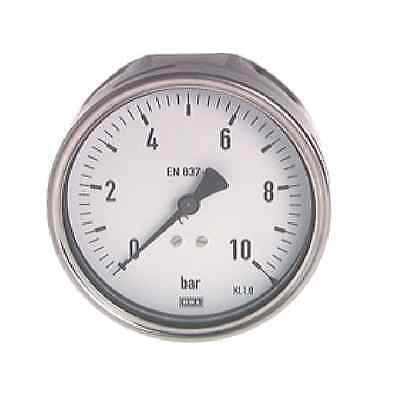 "100 mm MANOMETER HORIZONTAL 0/160 bar G 1/2"" STAINLESS STEEL CLASS 1,0"