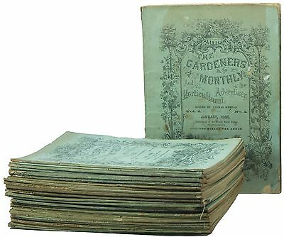 The Gardener's Monthly & Horticultural Advertiser, 36 Issue Run, 1860, Meehan