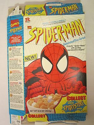 Empty Cereal Box RALSTON 1995 Marvel Comics SPIDERMAN 12.5 oz