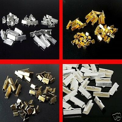 Silver Plated Ribbon End Clasps Bronze Gold Plated Jewellery Making Kit Refill