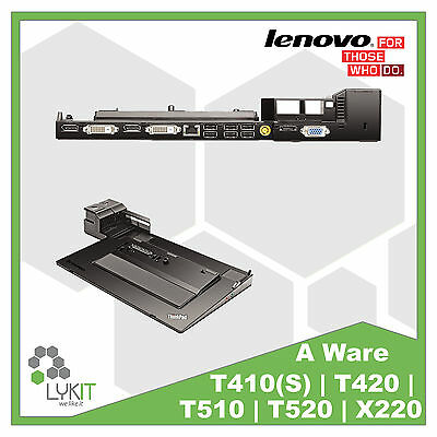 Lenovo Dockingstation 4338 Thinkpad T410 T420 T430 T520 T530 X220 A