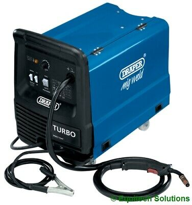 Draper Tools 12018 Gas No Gas Gasless 160A 160 Amp Mig Welder 230V + Accessories