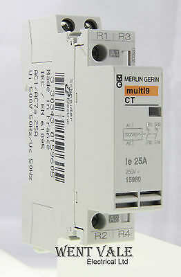 Merlin Gerin Multi 9 - 15960 - CT Double Pole 25a NC Contactor 240v Coil Un-used