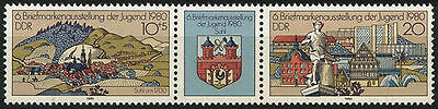 East Germany DDR 1980 SG#E2251-2 Youth Stamp Exhibition MNH Set #A82222