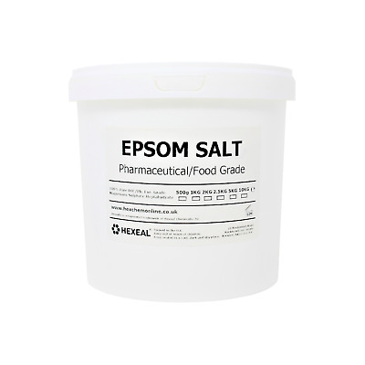 EPSOM SALT | 2.5KG BUCKET | 100% Natural | FCC Food Grade | Magnesium Sulphate