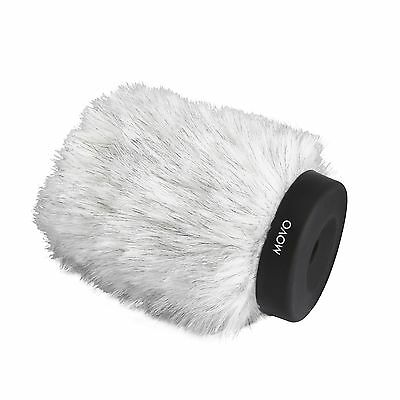 Movo WS120 Pro Windscreen w/Acoustic Foam for Shotgun Microphone up to 10cm Long