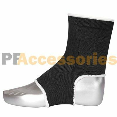 Elastic Compression Foot Wrap Ankle Support Brace for Sports Relief Pain (Black)