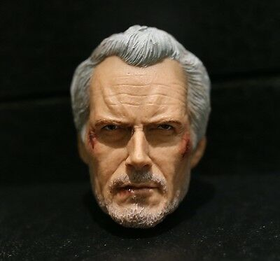 Custom made ! Clint Eastwood 2.0 damage Unforgiven William Will Munny 1/6 HEAD