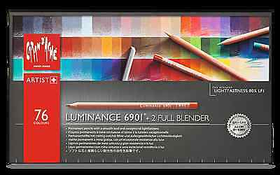 Caran D'Ache Luminance 6901 - 76 Pencils Box - Highest Quality And Lightfastness